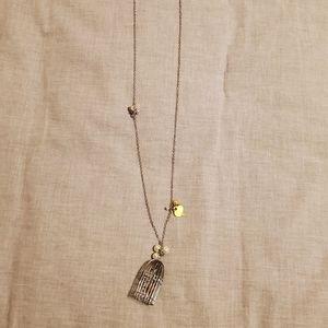 4/$10 metal birdcage necklace